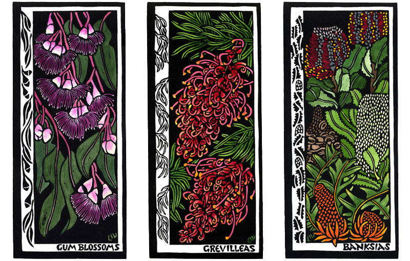 Cards 2005 – Gum Blossoms, Grevillea & Banksias