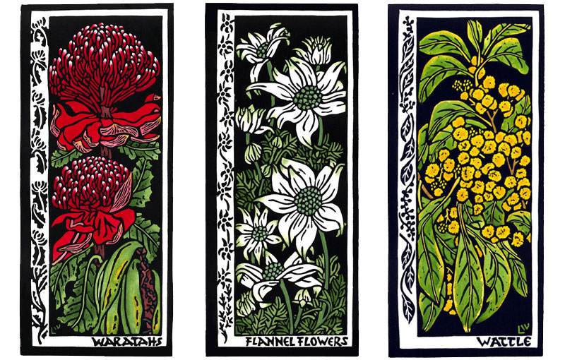 Cards 2005 – Waratah, Flannel Flowers & Wattle