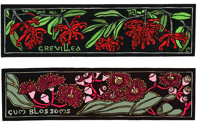 Landscape – Grevillea & Gum Blossoms