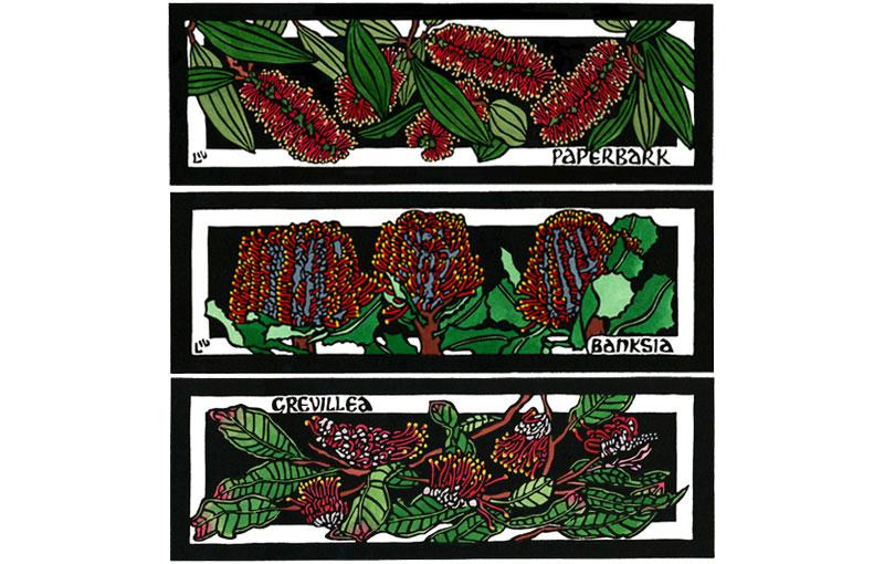 Panels – Paperbark, Banksia & Grevillea